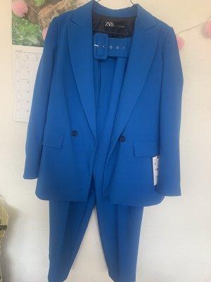 Zara Blazer Boyfriend azul