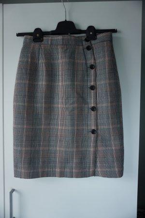 H&M Jupe taille haute multicolore polyester