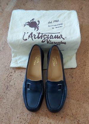 Zapatos estilo Oxford azul oscuro