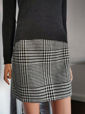H&M Wollen rok wit-zwart
