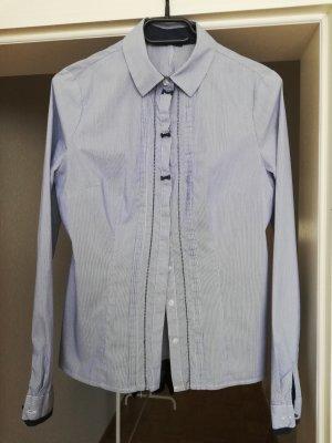 Long Sleeve Shirt steel blue-cornflower blue cotton
