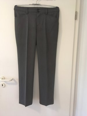 Oui Set Pleated Trousers dark grey polyester