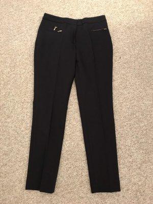 H&M Stretch Trousers dark blue-russet