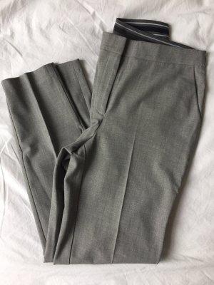 Businesshose Grau mit Stretchbund und Bundfalte