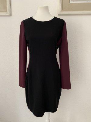 Diane von Fürstenberg Vestido ceñido de tubo negro-burdeos
