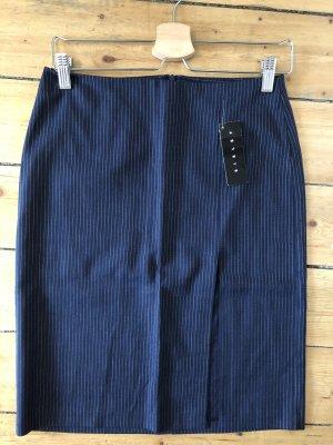 Businessrock Bleistiftrock Sisley S/36 Neu mit Etikett Dunkelblau mit weißen Streifen