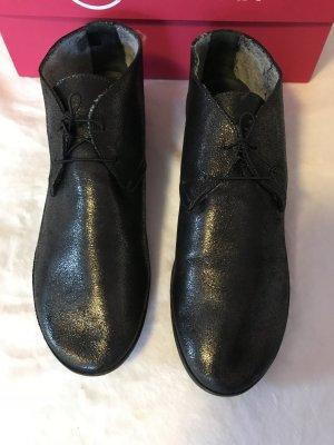 Businessschuhe Luxus Lace-up Ankle Boots Schnürstiefel Italienischer Designer (Galaxy PiomboKrok Snow)