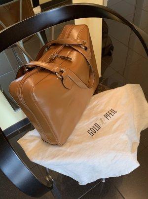 Goldpfeil Carry Bag cognac-coloured leather