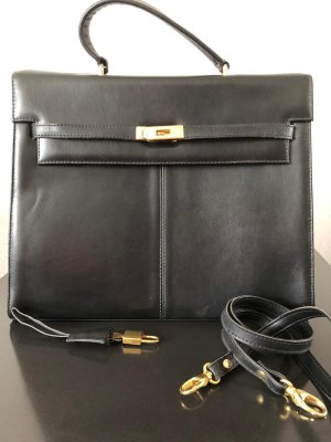 Karstadt Briefcase black-gold-colored