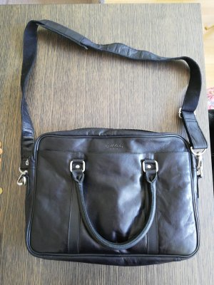 Gusti Leder Laptop bag black