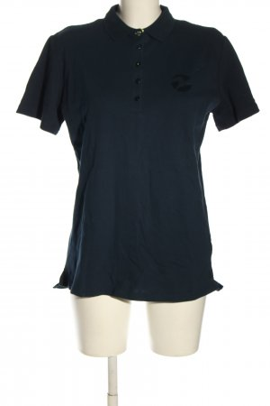 Busse Polo shirt blauw casual uitstraling