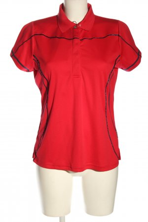Busse Polo shirt rood casual uitstraling