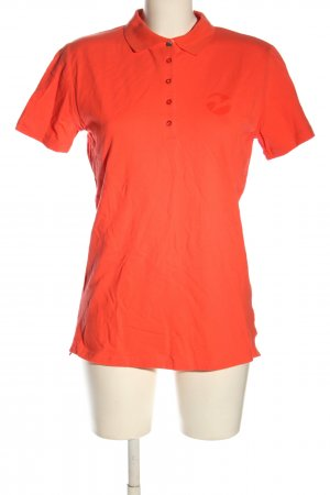 Busse Polo shirt rood gedrukte letters casual uitstraling