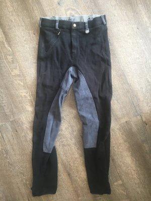 Busse Pantalone da equitazione nero Cotone
