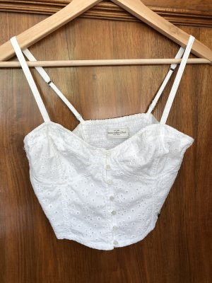 Abercrombie & Fitch Bustier Top white