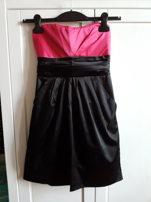 Bustier-Kleid Black/Pinkaus Satin,34