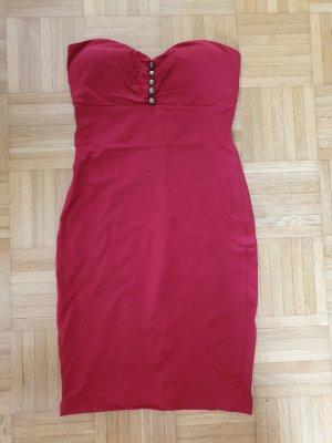 Fornarina Vestido strapless rojo-rojo oscuro