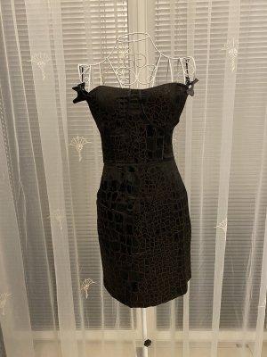 Sukienka gorsetowa czarny-brązowy