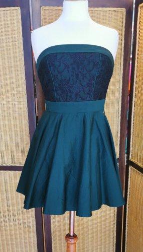 Tommy Hilfiger Sukienka gorsetowa ciemnozielony-leśna zieleń Bawełna