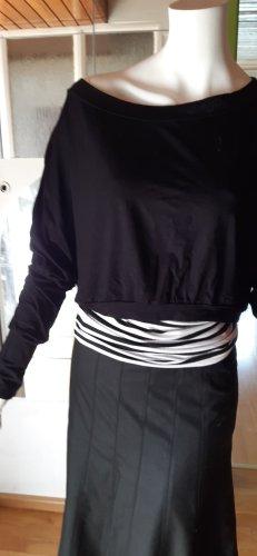 Denny Rose Maglione twin set bianco-nero