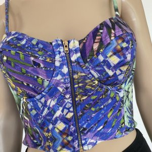 H&M Bustier Top multicolored