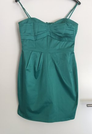 H&M Sukienka gorsetowa leśna zieleń