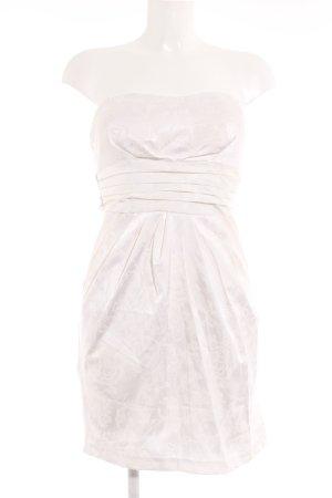 Robe bustier crème-beige clair moucheté