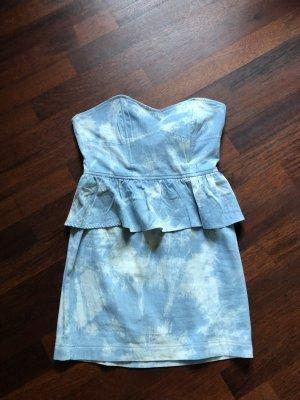 Rare london Sukienka gorsetowa błękitny-biały