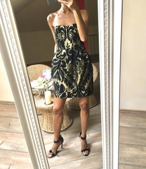 H&M Bustier Dress black-gold-colored
