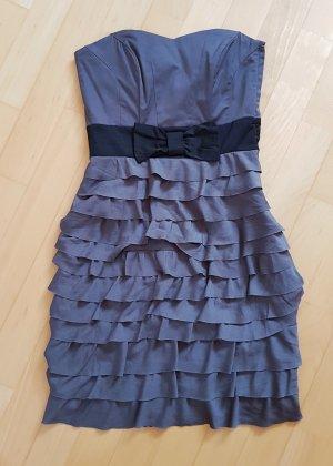 H&M Sukienka gorsetowa czarny-szary