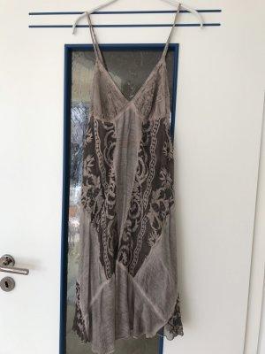 Naná Nucci Sukienka gorsetowa taupe-szaro-brązowy Jedwab