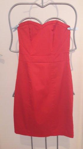 Bustierkleid, trägerfreies Kleid rot