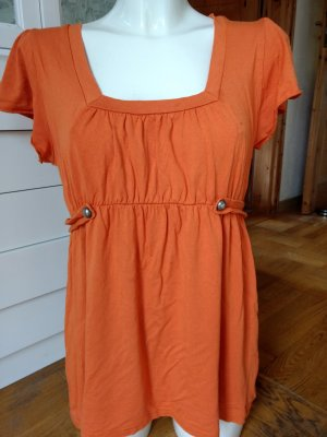 Top taille empire orange-orange foncé