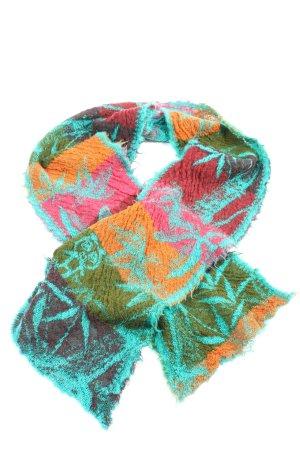 butapana Écharpe en tricot imprimé allover style décontracté