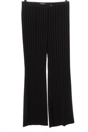 butik dayi Baggy broek zwart-bruin gestreept patroon casual uitstraling