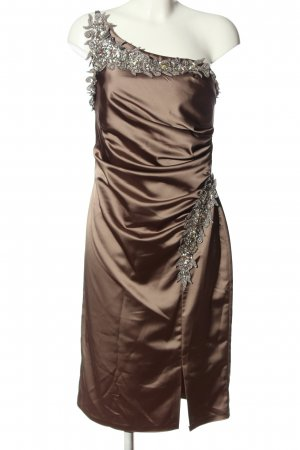 butik dayi One Shoulder Dress brown elegant