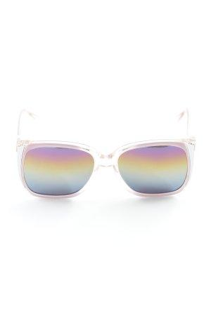 Okulary motylki różany-srebrny W stylu vintage