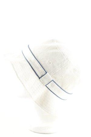 Fischerhut wollweiß-blau Streifenmuster Casual-Look