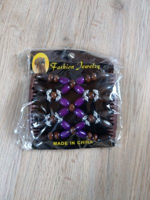 Barrette brun foncé-violet foncé