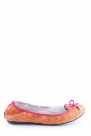 Butterfly twists Ballerinas mit Spitze hellorange-pink Animalmuster Casual-Look