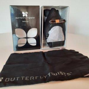 Butterfly twists Bailarinas plegables negro