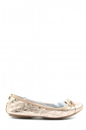 Butterfly twists faltbare Ballerinas goldfarben Casual-Look