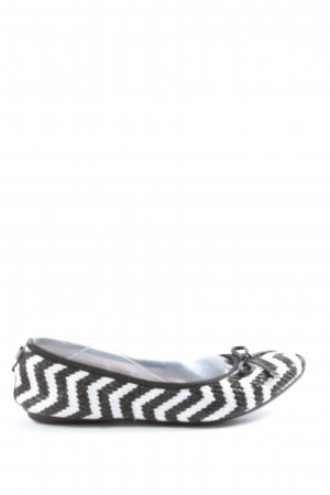 Butterfly twists Foldable Ballet Flats white-black striped pattern casual look
