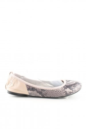 Butterfly twists faltbare Ballerinas creme-schwarz Animalmuster Casual-Look