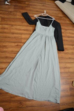Button Up V-Neck Dress Nakd blassblau 36