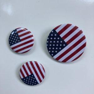 Buttons mit USA-Flagge verschiedene Größen