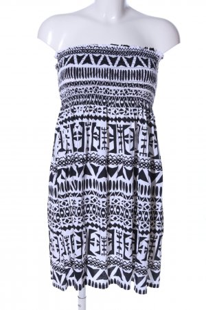 Buzy Collection Bandeaujurk zwart-wit volledige print casual uitstraling
