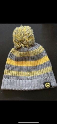 Borussia Dortmund Chapeau en tricot gris-jaune