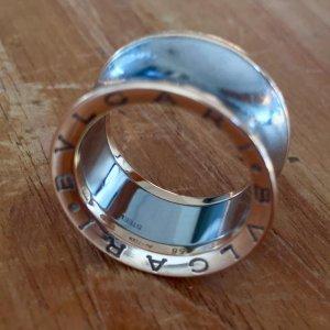Bvlgari Anish Kapoor B. Zero1 Gold and Steel Ring Gr. 56