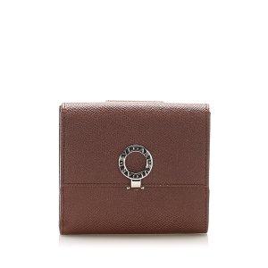 Bulgari Wallet brown leather